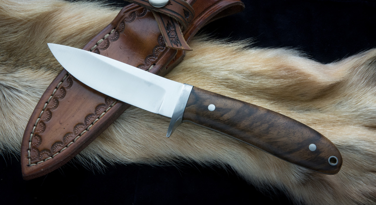 Fixed Blade Full Tang Stainless Steel Black Walrus Hunter Knife